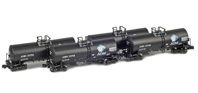 AZL 903800-1 ADMX, ADM (w/ Leaf Logo) 17,600 Gallon Tank Car Runner Pack