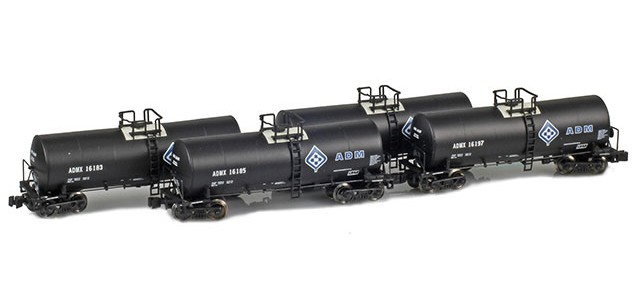 AZL 903802-1 ADMX, ADM (w/ Molecule Logo) 17,600 Gallon Tank Car Runner Pack