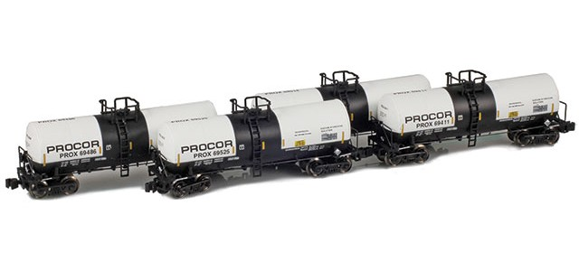 AZL 903819-1 Procor (Sodium Hydroxide) 17,600 Gallon Tank Car Runner Pack