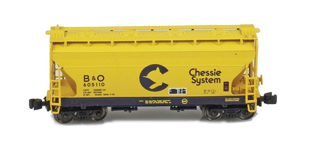 AZL 903902-1 ACF 2-Bay Hopper Chessie B&O #605110