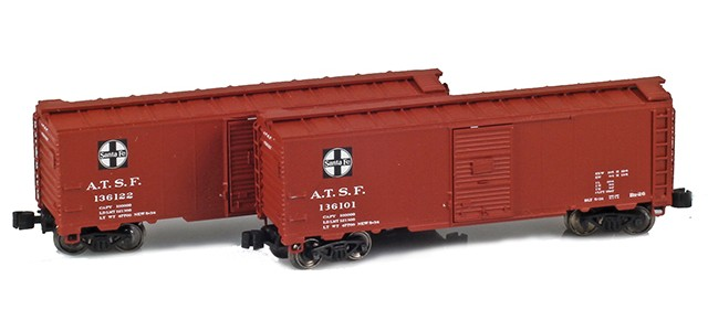 AZL 904370-1 ATSF 40' AAR Boxcar | 2-Car Set