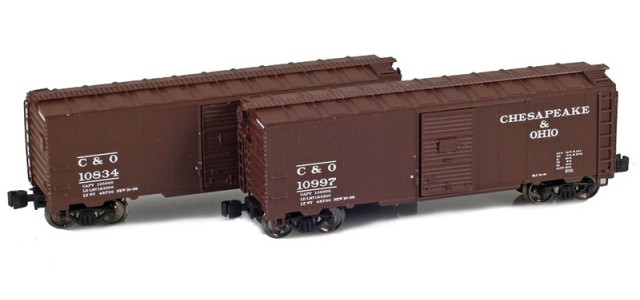 AZL 904372-1 C&O 40' AAR Boxcar | 2-Car Set