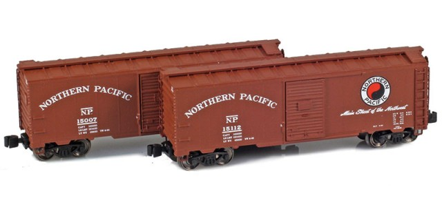 AZL 904379-1 Northern Pacific 40' AAR Boxcar | 2-Car Set