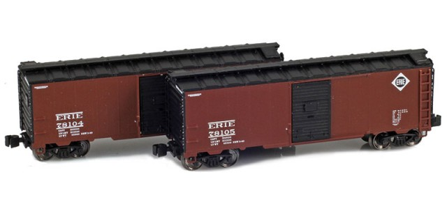 AZL 904375-1 ERIE 40' AAR Boxcar | 2-Car Set