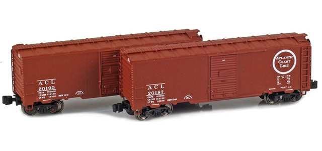 AZL 904371-1 Atlantic Coast Line 40' AAR Boxcar | 2-Car Set