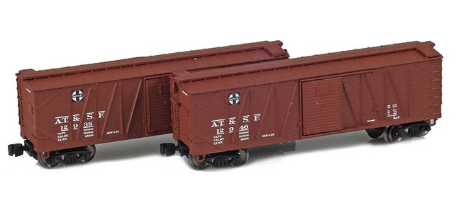 AZL 903170-1 40' ATSF Outside Braced Boxcar | 2-Car Set