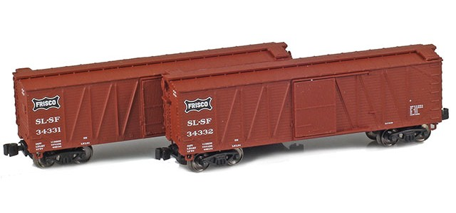 AZL 903171-1 40' SLSF (Frisco) Outside Braced Boxcar | 2-Car Set