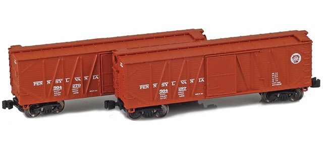 AZL 903175-1 40' Pennsylvania Outside Braced Boxcar | 2-Car Set