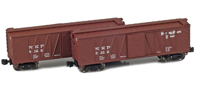 AZL 903176-1 40' Nickel Plate Outside Braced Boxcar | 2-Car Set