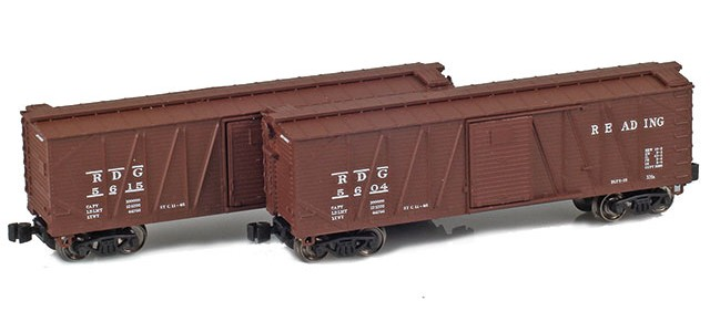 AZL 903177-1 40' Reading Outside Braced Boxcar | 2-Car Set