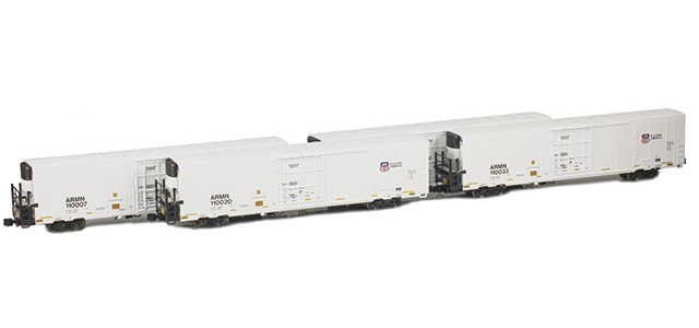 AZL 904001-1 Trinity 64' Reefer ARMN/UP 4-Pack | Set 1