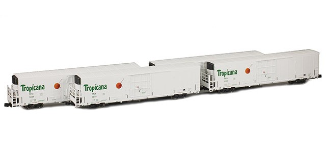 AZL 904003-1 Trinity 64' Reefer Tropicana TPIX 4-Pack | Set 1