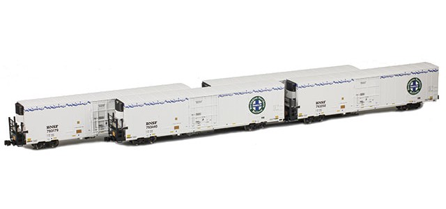 AZL 904004-1 Trinity 64' Reefer BNSF 4-Pack | Set 1