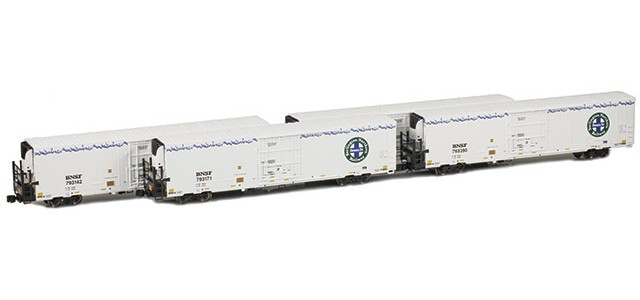 AZL 904005-1 Trinity 64' Reefer BNSF 4-Pack | Set 1