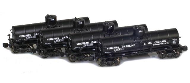 AZL 905001-1 Virginian 8,000 Gallon Tank Car 4-Pack