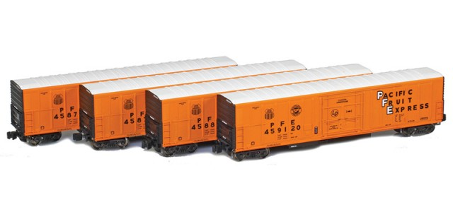 AZL 904800-1 R-70-20 Pacific Fruit Express (PFE) Reefer 4-Pack