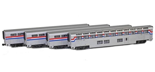 AZL 72050-1 Superliner 4-Pack Amtrak Phase III
