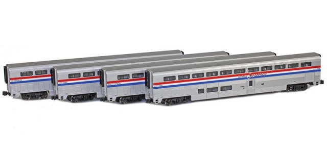 AZL 72051-1 Superliner 4-Pack Amtrak Phase III