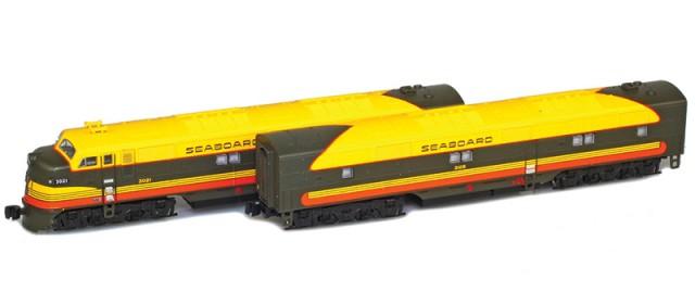 AZL 64611-2 Seaboard Air Line EMD E7 A-B Set | #3027, #3106