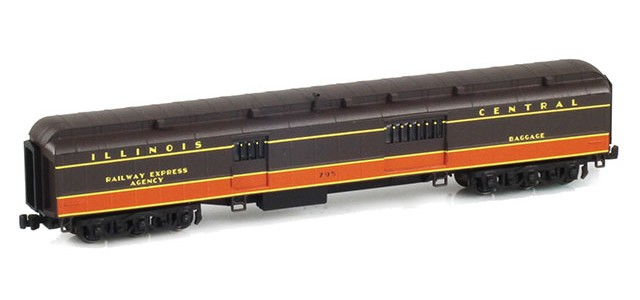 AZL 71620-1 ILLINOIS CENTRAL Baggage RAILWAY EXPRESS AGENCY