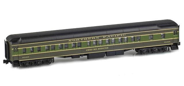 AZL 71233-2 NORTHERN PACIFIC 8-1-2 Pullman Heavyweight Sleeper | CHIEF BIG MEDICINE