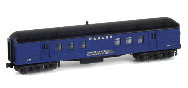 AZL 71911-1 WABASH RPO US MAIL RAILWAY POST OFFICE