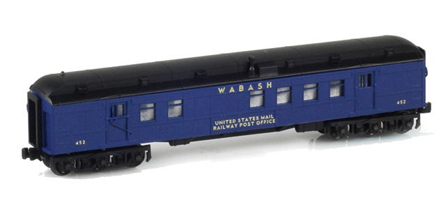 AZL 71911-2 WABASH RPO US MAIL RAILWAY POST OFFICE