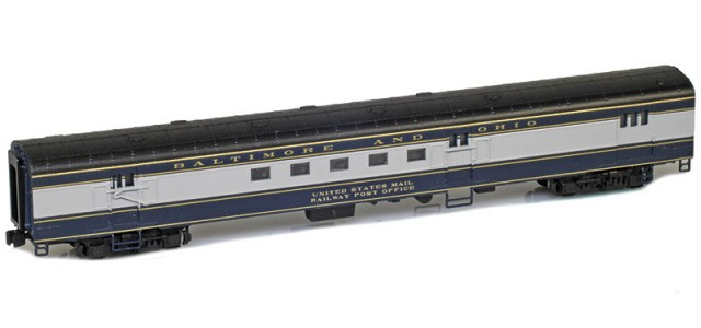 AZL 73910-0 BALTIMORE AND OHIO Mail UNITED STATES MAIL RAILWAY POST OFFICE Lightweight Passenger Car