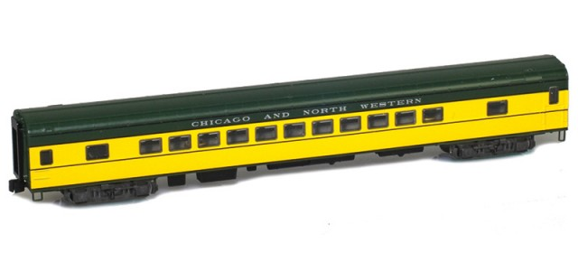 AZL 73705-0 CHICAGO AND NORTH WESTERN Coach Lightweight Passenger Car