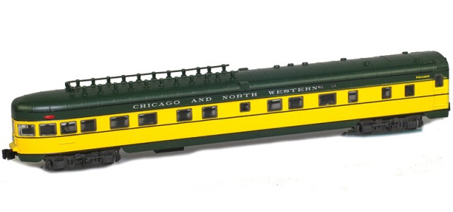 AZL 73805-0 CHICAGO AND NORTH WESTERN Observation Lightweight Passenger Car