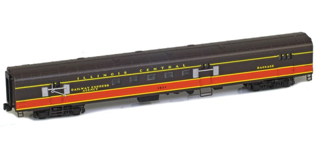 AZL 73920-1 IC Panama Limited Mail ILLINOIS CENTRAL #1831 Lightweight Passenger Car