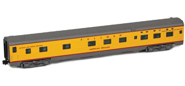 AZL 73108-5 UP (C&NW) Sleeper 6-6-4 PULLMAN AMERICAN BRIGADE Lightweight Passenger Car