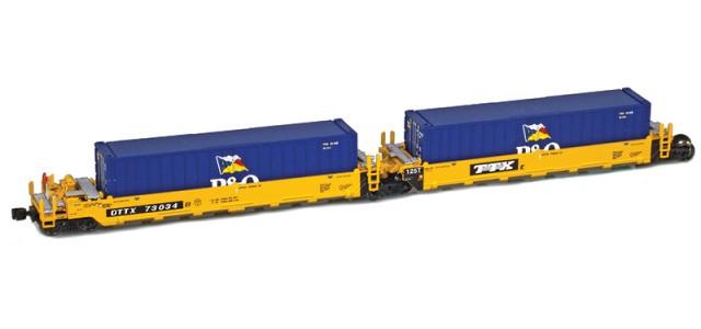 AZL 906502-1PO DTTX (Old TTX Logo) MAXI-I Set 73014 w/5 PO containers