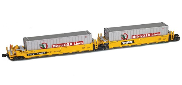 AZL 906502-2MI DTTX (Old TTX Logo) MAXI-I Set 73019 w/5 Mitsui containers