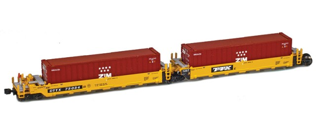 AZL 906502-3ZI DTTX (Old TTX Logo) MAXI-I Set 73026 w/5 Zim containers