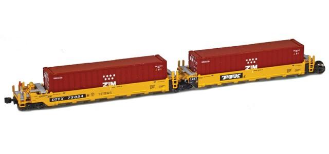 AZL 906502-3ZI DTTX (Old TTX Logo) MAXI-I Set 73026 w/5 Zim containers