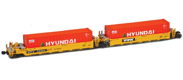 AZL 906502-5HY DTTX (Old TTX Logo) MAXI-I Set 73034 w/5 Hyundai containers
