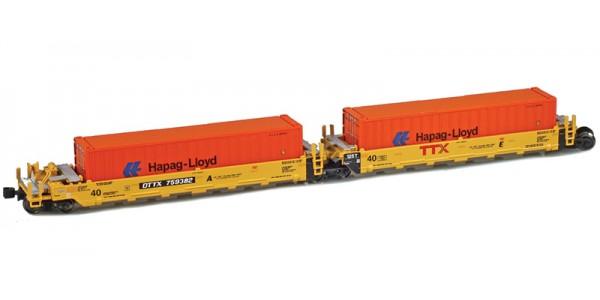 AZL 906503-3HL DTTX (New TTX Logo) MAXI-I Set 759364 | 5 HAPAG-LLOYD Containers