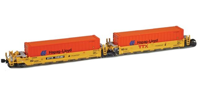 AZL 906503-2HL DTTX (New TTX Logo) MAXI-I Set 759356 | 5 HAPAG-LLOYD Containers