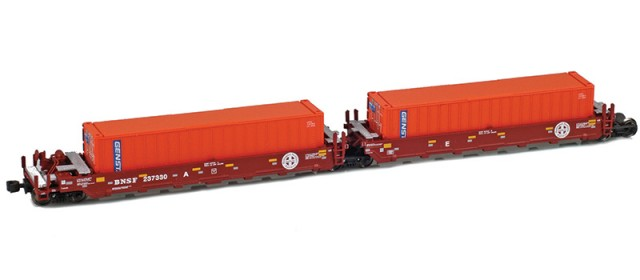 AZL 906509-4GE BNSF MAXI-I Herald Set 237545 | 5 GENSTAR Containers