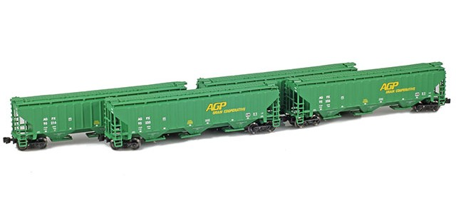 AZL 90928-1 AGPX PS-2 Covered Hopper | 4-Car Set