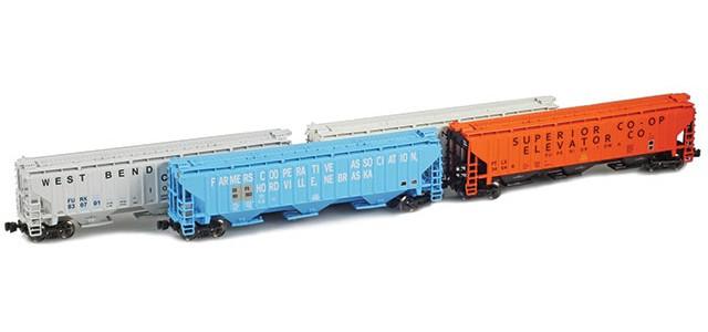 AZL 90935-1 PS-2 Covered Hopper | 4-Car Set | Co-Op Set 1