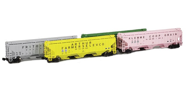 AZL 90939-1 PS-2 Covered Hopper | 4-Car Set | Co-Op Set 3