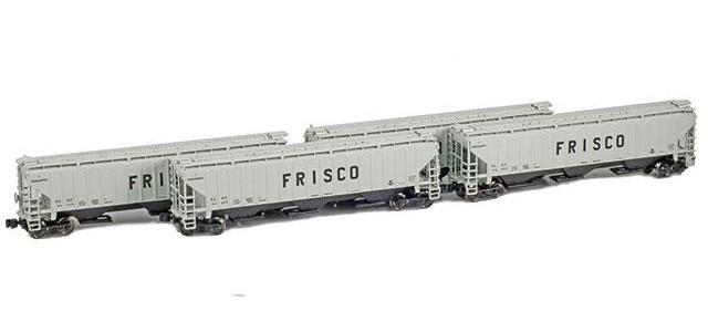 AZL 90937-1 Frisco (SLSF) PS-2 Covered Hopper | 4-Car Set