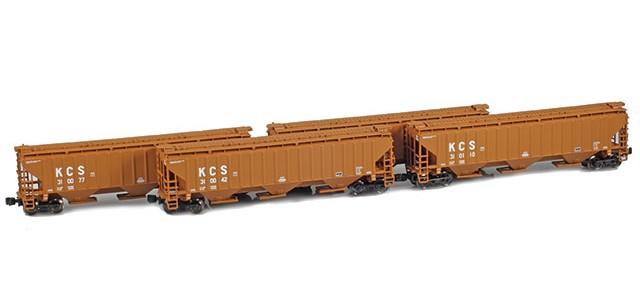 AZL 90926-1 KCS PS-2 Covered Hopper | 4-Car Set