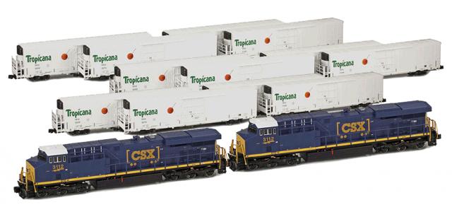AZL CSX ES44AC | 2-Locomotive | 12-Car Tropicana Consist