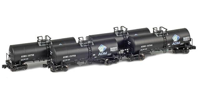 AZL 903800-1 ADMX, ADM (w/ Leaf Logo) 17,600 Gallon Tank Car Runner Pack
