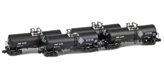 AZL 903802-1 ADMX, ADM (w/ Molecule Logo) 17,600 Gallon Tank Car Runner Pack