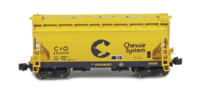 AZL 903902-2 ACF 2-Bay Hopper Chessie C&O #604848
