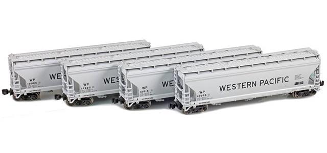 AZL 90304-1 ACF 3-Bay Hopper Western Pacific | 4-Car Set